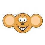 Cute Monkey Smiley Face