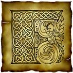 Celtic Knotwork Letter F