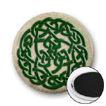 Celtic Jewel-Tone Round Knot Magnets