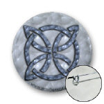 Celtic Metallic Knot Buttons