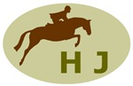 hunter jumper horse and rider (sage)