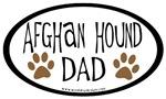 Afghan Hound Dad Oval