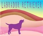 Labrador Dog Pink Hills