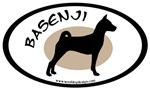 Basenji Dog Breed Oval Sticker Selections