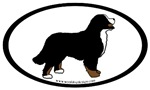 Bernese Mountain Dog Oval Stickers