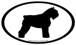 Bouvier des Flandres Oval Stickers
