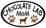 chocolate lab mom oval