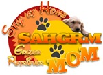 SHGRMOM (Stay at Home Golden Retriever Mom) w/pup