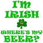 Irish St. Patrick's Day Beer T-shirts