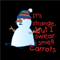 It's Strange But I Swear I Smell Carrots :: Funny Snowman Shirts