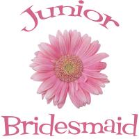 Junior Bridesmaid Wedding Apparel Gerber Daisy