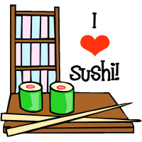I Love Sushi Japanese T-Shirts Gifts