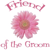 Friend of the Groom Daisy Pink Wedding Apparel