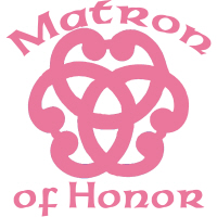 Celtic Knot Matron of Honor Wedding Party Apparel