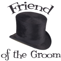 Top Hat Wedding Party Friend of the Groom