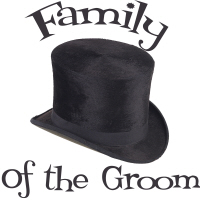 Top Hat Wedding Party Groom's Family T-Shirts