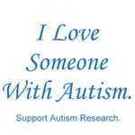 I Love Someone with Autism (blue)