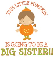 little pumpkin big sister halloween