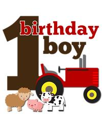 Copy of Farm Tractor Birthday Boy