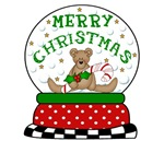 Merry Chrismas Snow Globe BEAR