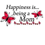 Happiness is Being a Mom Butterfly T-shirt Design
