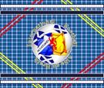 Scotland blue tartan football