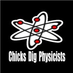 Chicks Dig Physicists is the perfect tshirt or mug to help support that inner love of physics and those who study physics.  Show your love for the physics geek with this great Chicks Dig Physicists tshirt.
