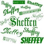 Sheffey - green fonts