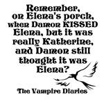 Kiss on Elena's Porch, black