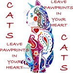 Cats Pawprints Heart