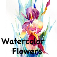 Watercolor Flowers Original Artwork