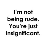 I'm not being rude. You're just insignificant.