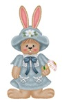 Blue Country Bunny