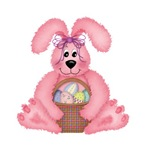 Pink Fuzzy Easter Bunny