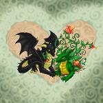 Black & Vine Dragons by Earthgirl