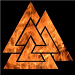 Burning Valknut
