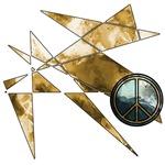 Earth Tone Abstract Peace Symbol