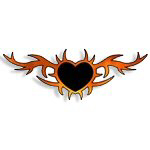 Heart Flames Tattoos Gift Ideas & T-Shirts!