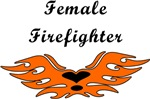 Female Firefighter and Flame Logo Tee's & Gifts