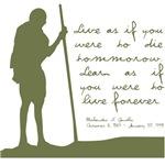 Gandhi Live Quote