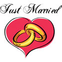 Just Married T-Shirt and Gifts