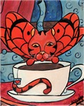 Fairy Cat with Tea Cup