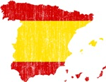 Spain Flag And Map
