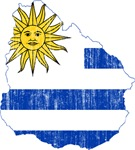 Uruguay Flag And Map