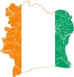 Ivory Coast Flag And Map