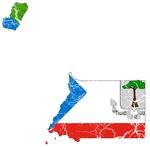 Equatorial Guinea Flag And Map