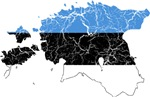 Estonia Flag And Map