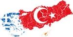Greece Turkey Cyprus Flag And Map