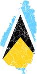 Saint Lucia Flag And Map