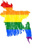 Bangladesh Rainbow Pride Flag And Map